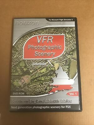 VFR Photographic Scenery 1: SE & S Wales - Windows PC DVD FSX MICROSOFT FLIGHT • 28£