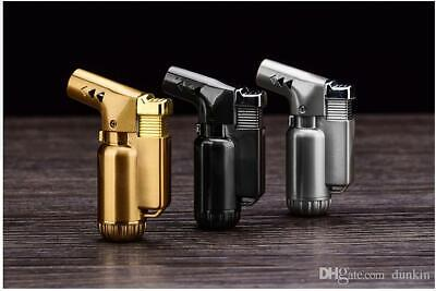 Refillable Butane Cigar Cigarette Windproof Lighter Adjust Jet Flame Torch GIFT • 5.99£