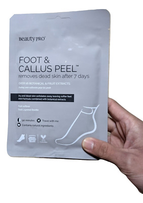 £6.22 • Buy 1 Pair Beauty Pro Foot & Callus Peel Sachet Removes Dead Skin After 7 Days 40ml