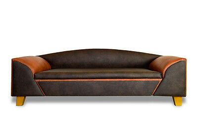 Dog Sofa Bed Madrid Deluxe Buffalo Leather Coffee XXL Handmade New Luxury • 282.49£