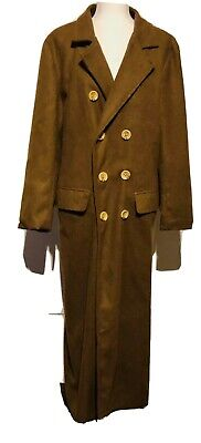 1996 DOCTOR WHO Licensed By BBC Cosplay Trench Coat Mens S/M • 27.73£