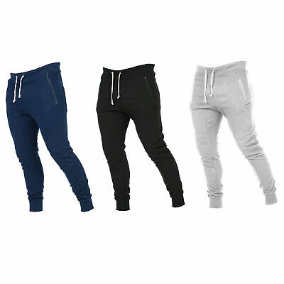 £8.98 • Buy Trousers Pants Men's Workout Pockets Tracksuit Joggers Gym Sport Fitness Fashion