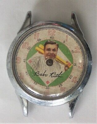 $ CDN4.25 • Buy Vintage Babe Ruth Character Watch By New Haven Swiss Parts Or Repair