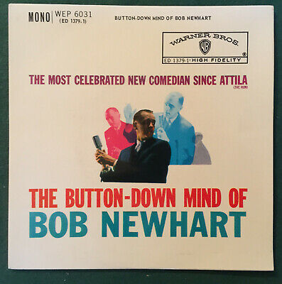 Bob Newhart - Comedian - Vinyl EP - 'The Button Down Mind Of Bob Newhart' • 2.50£