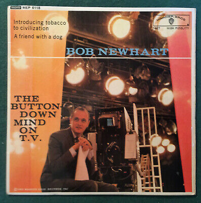 Bob Newhart - Comedian - Vinyl EP - 'The Button Down Mind On T.V.' • 2.50£