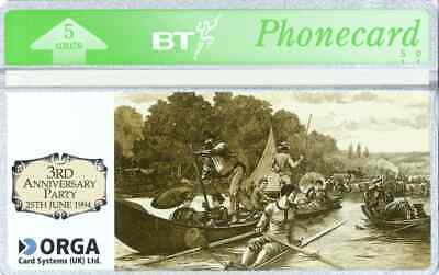 BTP358  Orga 3rd Anniversary Party   (without Chip) -  Mint Phonecard Rare • 75£