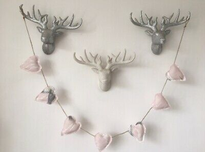 Handmade Laura Ashley Animalia Blush Heart Bunting/garland • 9.99£