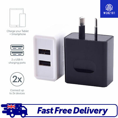AU7.88 • Buy USB Wall Charger Dual Universal Charging Adapter Samsung Apple Android Iphone