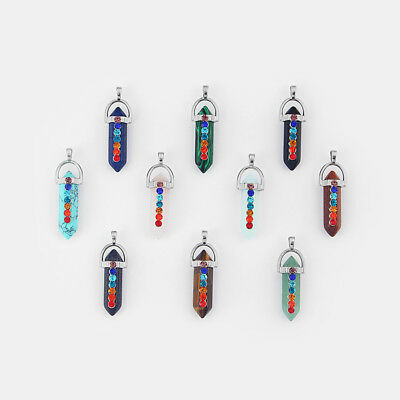 Fashion Natural Quartz Crystal Stone Charms Pendants For Jewelry Necklace Making • 2.99£