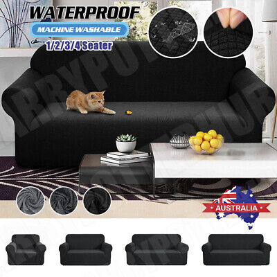 AU28.49 • Buy Sofa Covers 1/2/3/4 Seater Stretch Lounge Slipcover Protector Couch Waterproof