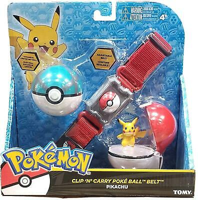 Pokemon Clip N Go Belt With Pikachu, Poke Ball And Net Ball Role Play Set T18889 • 16.99£