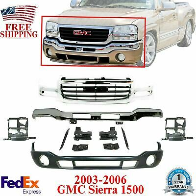 $403.90 • Buy Front Bumper Chrome With Brackets + Valance + Grille For 03-06 GMC Sierra 1500