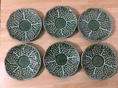 £25 • Buy 6 Vintage Secla Cabbage Leaf Saucers -  Made In Portugal