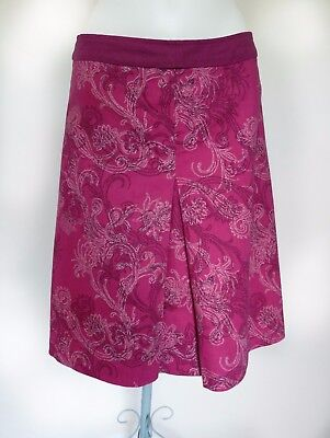 ST MARTINS Pink Raspberry Patterned Cotton A-Line Skirt S 10 • 14.99£