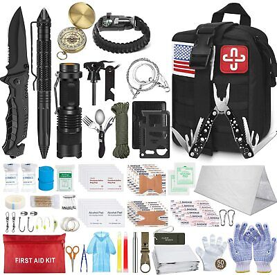 $55.98 • Buy Emergency Survival Kit First Aid Gear Military Molle Trauma Bag Professional 152