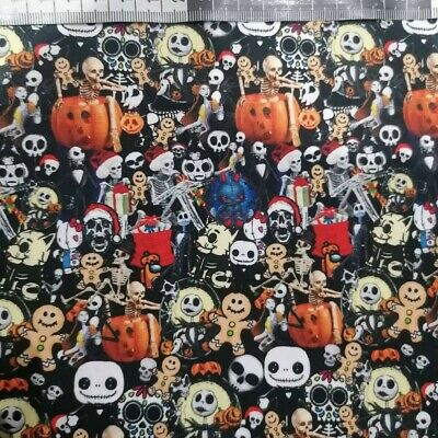 £9.99 • Buy Jack Skellington Nightmare Before Christmas 100% Cotton Perfect For Facemasks