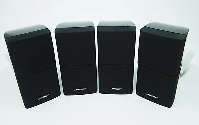 2 Pairs BOSE BLACK DOUBLE CUBE ACOUSTIMASS 5/10/15 LIFESTYLE SPEAKERS   A24 • 205£