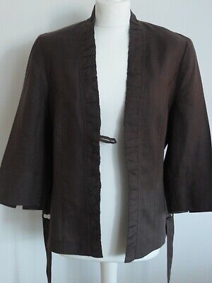 Steilmann Size 16 Three Quarter Sleeve Brown Jacket, New Without Tags • 13.99£