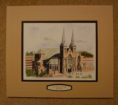 £7.99 • Buy Mounted Print The Cathedral Of St Chad Birmingham Ready To Frame Art