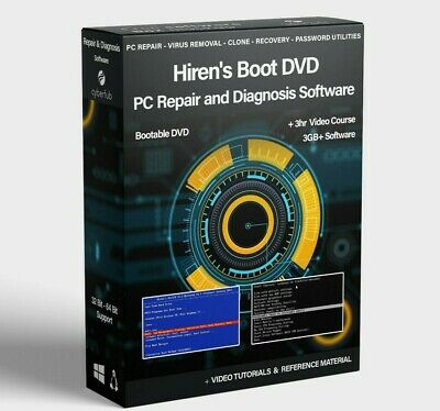 £14.95 • Buy Hiren's Boot CD DVD PC Repair Tools Recovery Virus Removal Boot Utility Toolkit