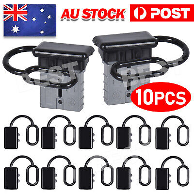 AU10.95 • Buy 10x For Anderson Plug Cover Style Connectors 50AMP Battery Caravn Black Dust Cap