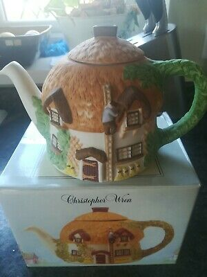 Christopher Wren Cottage Teapot  Staffordshire Tableware England BOXED • 4£