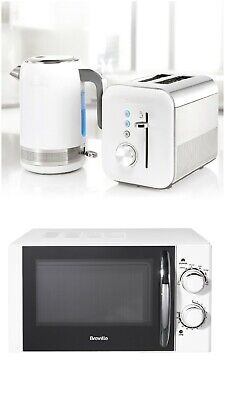 Breville High Gloss Microwave Electric Kettle 2-Slice Toaster Breakfast Set • 239.99£