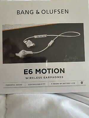 £69.99 • Buy  White Bang And Olufsen B&o E6 Motion Wireless Bluetooth Earphones New Sealed