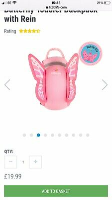 Little Life Butterfly Toddler Backpack With Reins • 8£