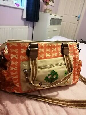 Red Lining 'Twice As Nice' Twin Mummy Changing Bag. • 2.60£
