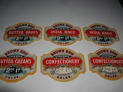 Vintage Label Stickers,sweets Confectionery Related • 10£