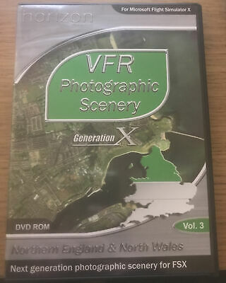 VFR SCENERY Generation X Vol 3 Northern England & North Wales Pc Cd Add-On FSX • 14£