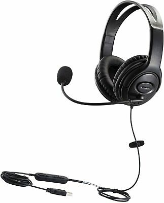 USB Headset With Microphone For CallCenter Skype Chat Computer Phone Headset Mic • 15.38£