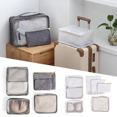 AU14.39 • Buy 6Pcs Travel Packing Cubes Sets Storage Bags Pouch Organiser Luggage Suitcase
