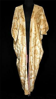 Museum Quality French Antique 1920's Jamori Designer Gold Silk Velvet Opera Coat • 2,449.16£