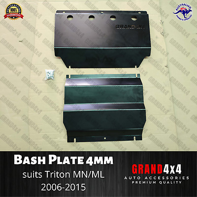AU185 • Buy Steel Bash Plate Heavy Duty 4mm Black To Suit Mitsubishi Triton MN/ML 2006-2015