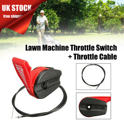 £8.55 • Buy 65'' Lawn Mower Throttle Switch Lever Control Handle Kits With Throttle Cable UK