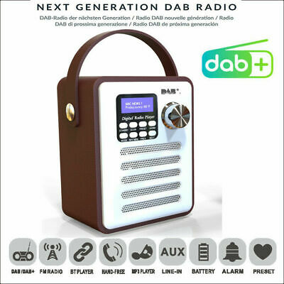 Portable DAB Digital Rechargeable Retro Stereo Bluetooth FM Radio Audio MP3 Wood • 31.99£
