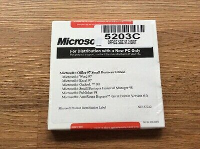Microsoft Office 97 Small Business Edition Sealed New With Product Key Code Rare • 35£