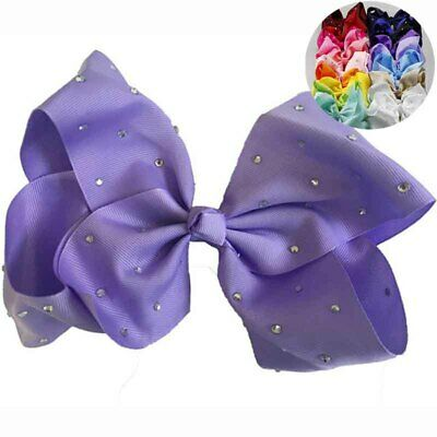 20cm Fashion Hair Bow Ornament Hairpin Hand Made Large Bow Point Drill With Cute • 2.83£