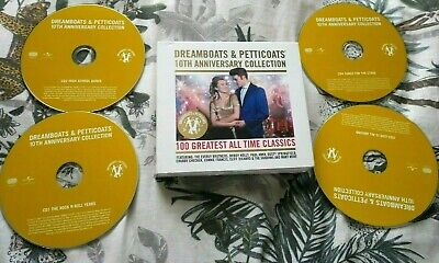 Dreamboats And Petticoats 10th Anniversary Collection - 4 Cd Boxset In Vgc • 6.91£