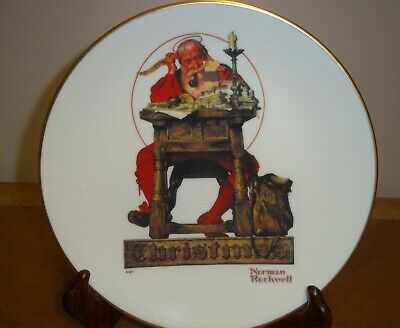 $ CDN9.15 • Buy Norman Rockwell 1980 Letter To Santa Plate