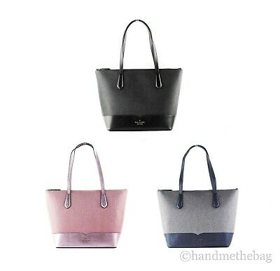 $ CDN129.60 • Buy Kate Spade Lola Large Leather Glitter Tote Handbag Satchel Purse