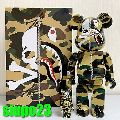 $599.99 • Buy Medicom 400% + 100% Bearbrick ~ A Bathing Ape Bape X Mastermind Be@rbrick Ver 2