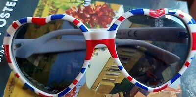 Loveheart Framed Sunglasses With Union Jack Print - 60s Style, London, Dress-up • 3.25£