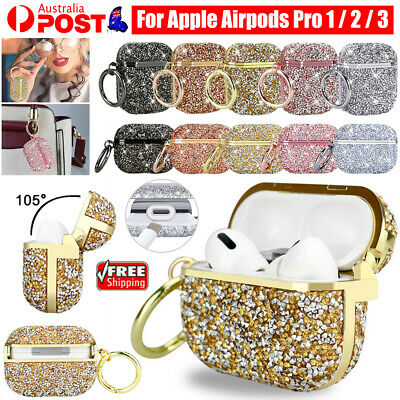AU13.99 • Buy For Apple Airpods Pro 3 / 2 / 1 Luxury 3D Glitter Bling Hard Case Cover + Hook