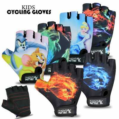Children Kids Boys Girls Padded Cycling Scooter Bmx Bike Gloves Cycle Bicycle  • 4.99£
