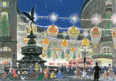 Christmas Cards 10 Pack Lights On Regent Street Plastic Free Packaging Charity • 5£