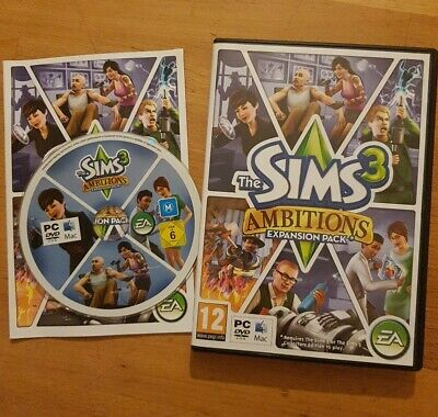 The SIMS 3 - AMBITIONS EXPANSION PACK - PC DVD MAC COMPLETE # FREE POST • 4.25£