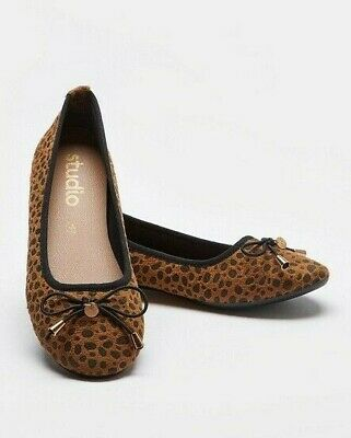 £9.99 • Buy Women's UK Size 8 Shoes Dolly Leopard Print NEW Gold Slip-on Animal Print Flats